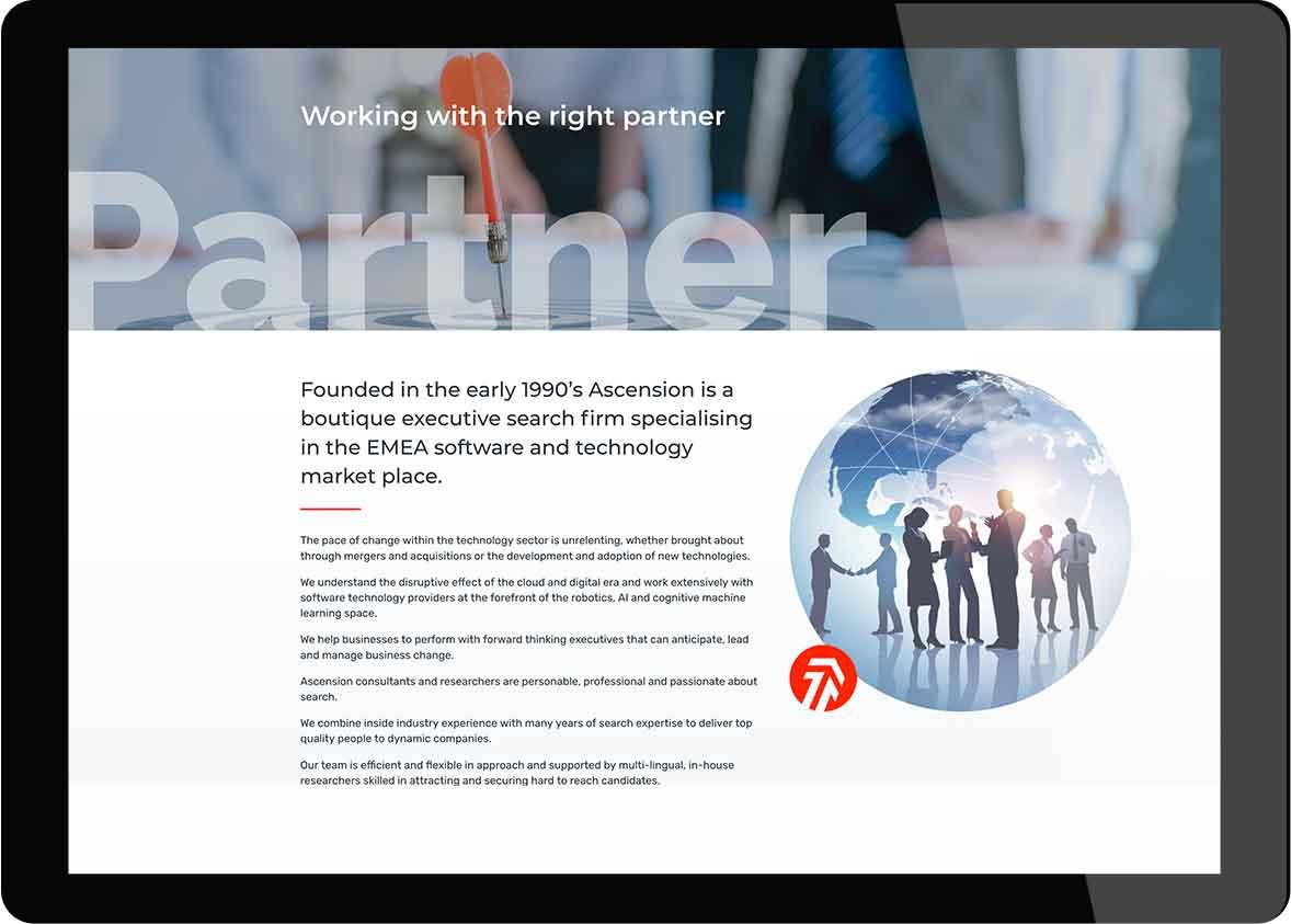 Tigerpink Design - Ascension Executive Search - iPad