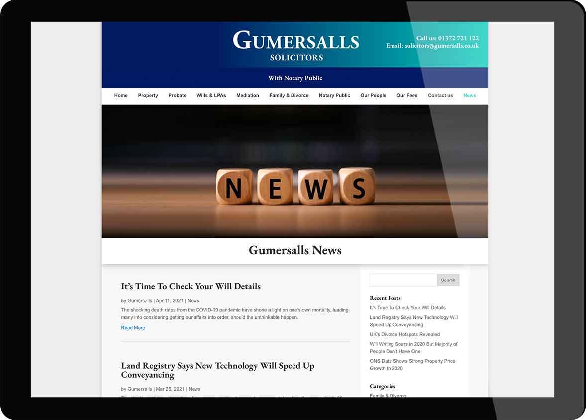 Tigerpink Design - Gumersalls - iPad