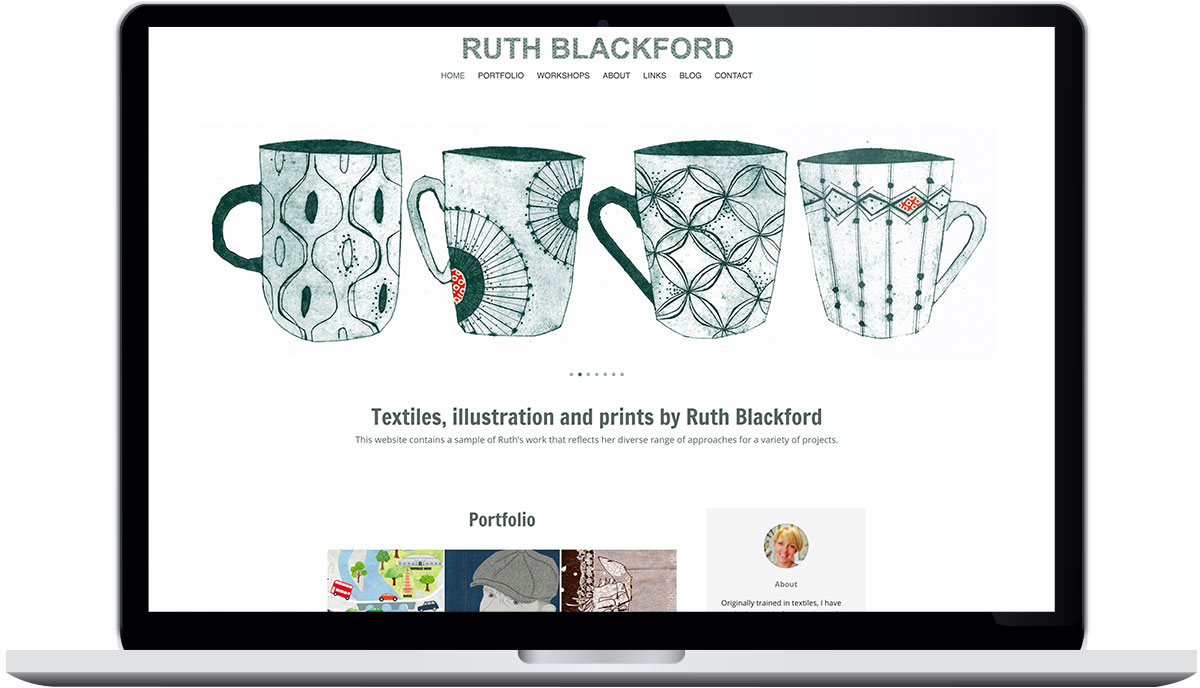 Tigerpink Design - Ruth Blackford - Laptop