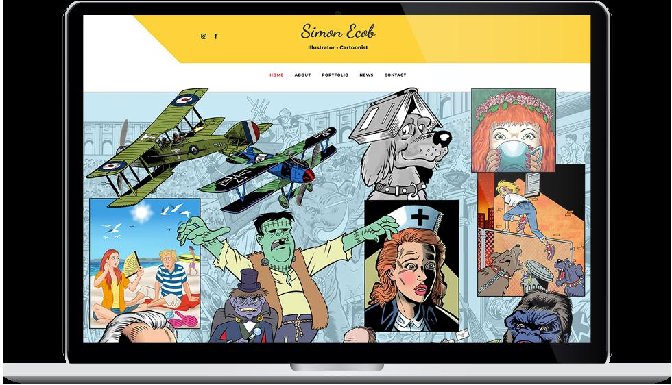 Tigerpink Design - Simon Ecob - laptop