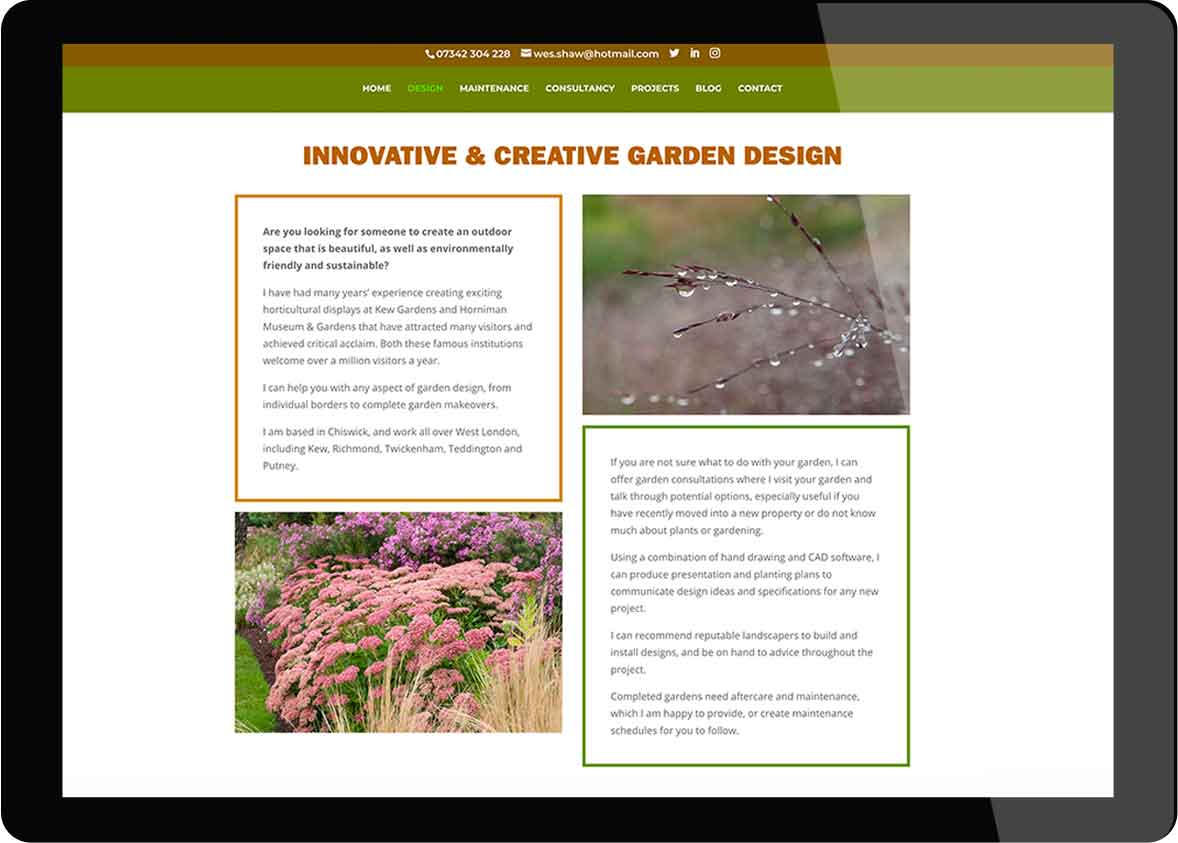 Tigerpink Design - Wes Shaw - iPad