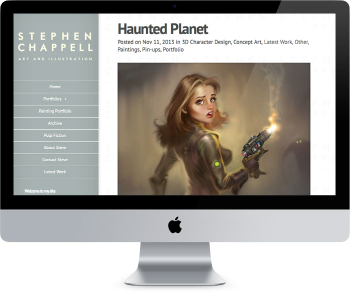 Tigerpink website design - Stephen Chappell
